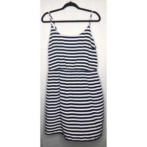 Black white stripe tank dress xl old navy